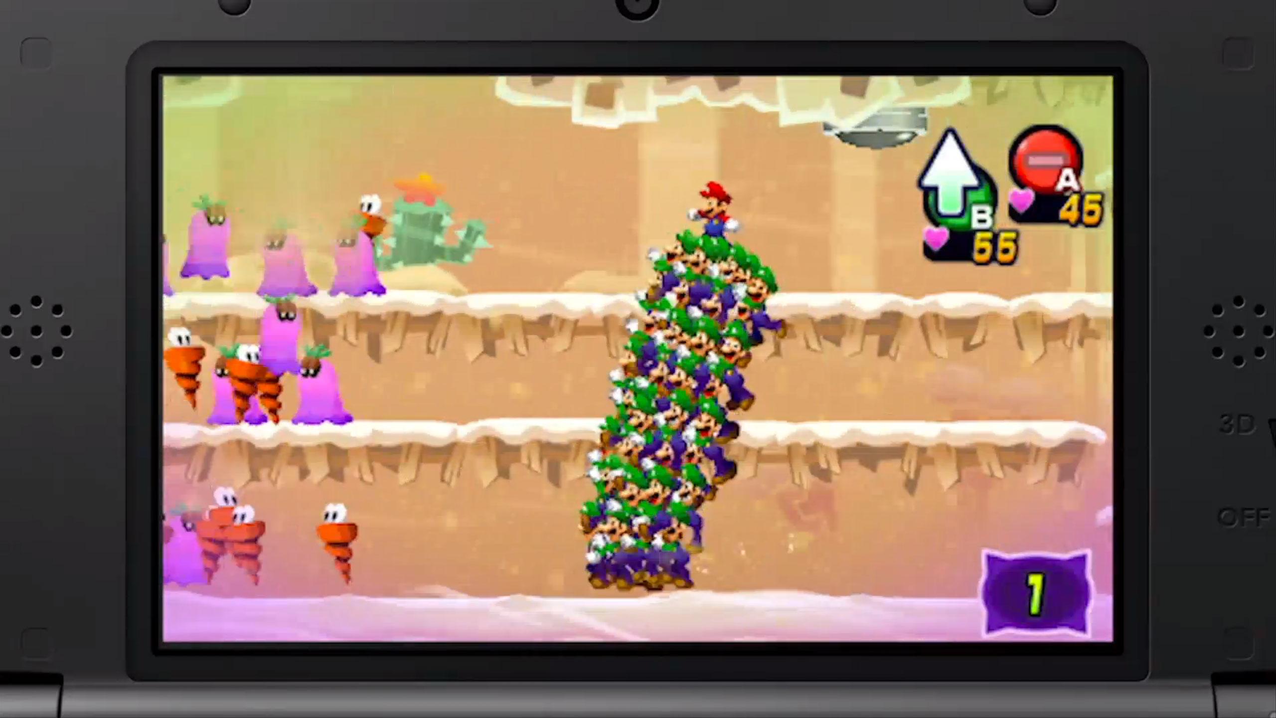 Mario Luigi Dream Team Review Eggplante