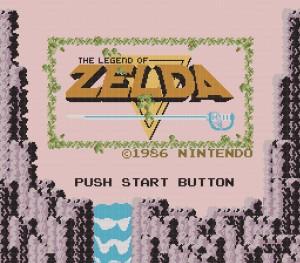 The Legend of Zelda NES - Title Screen