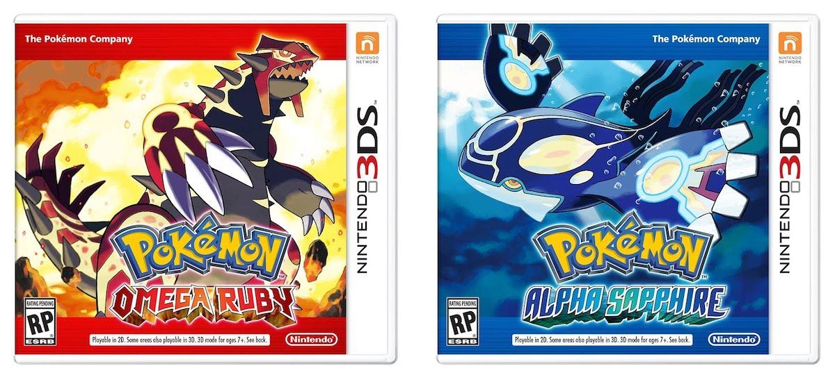 Pokemon Omega Ruby, Alpha Sapphire - Box Art
