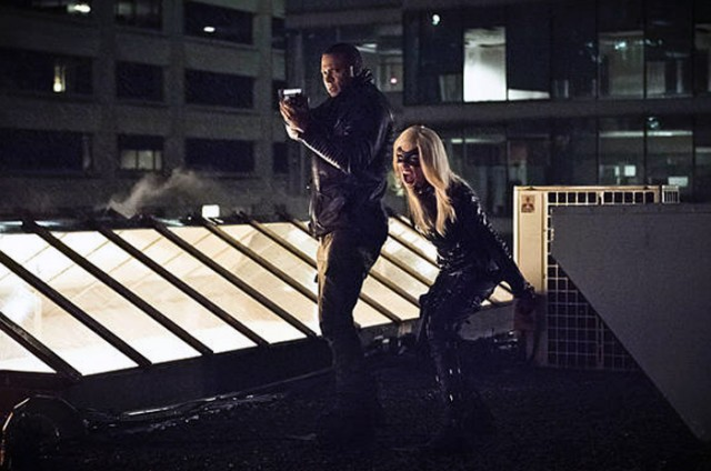 "Arrow -- ""Al Sah-Him"" -- Image AR321A_0247b -- Pictured (L-R): David Ramsey as John Diggle and Katie Cassidy as Black Canary -- Photo: Dean Buscher/The CW -- �© 2015 The CW Network, LLC. All Rights Reserved."