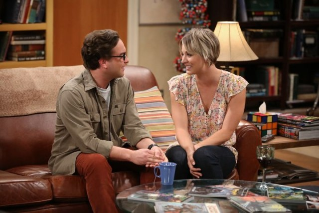 """The Commitment Determination"" --  Sheldon pushes Leonard (Johnny Galecki, left) and Penny (Kaley Cuoco-Sweeting, right) to choose a date for their wedding and deals with dramatic changes in his own relationship with Amy, on THE BIG BANG THEORY, Thursday, May 7 (8:00-8:31 PM, ET/PT), on the CBS Television Network. Photo: Monty Brinton/CBS ©2015 CBS Broadcasting, Inc. All Rights Reserved"