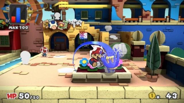 Paper Mario Color Splash - Gameplay